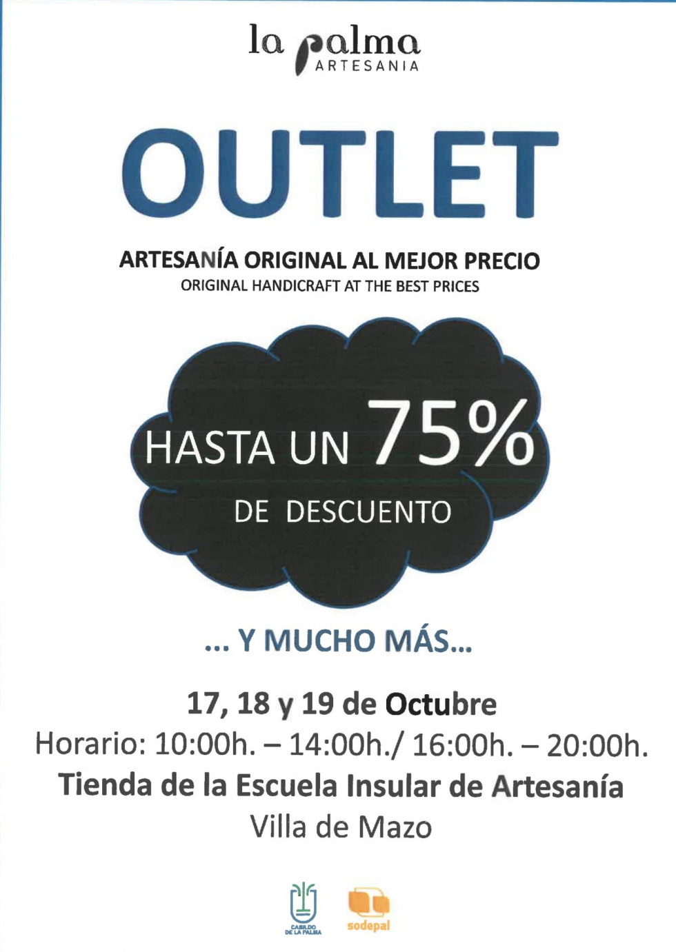 CARTEL OUTLET ARTESANIA 19 1